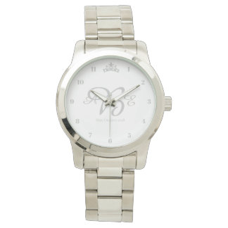Miss USA style Silver Crown Watch
