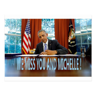 MISS YOU AND MICHELLE POSTCARD