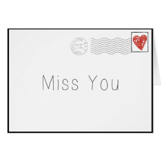 Miss You by Mail Greeting Card