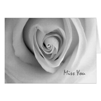 Miss You, Love and Romance, Heart Shaped Rose Card
