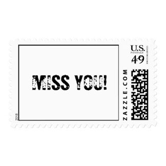 MISS YOU! POSTAGE STAMPS