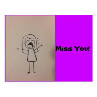 Miss you! postcard