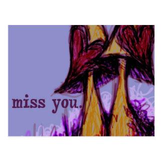 Miss you postcard1 postcard