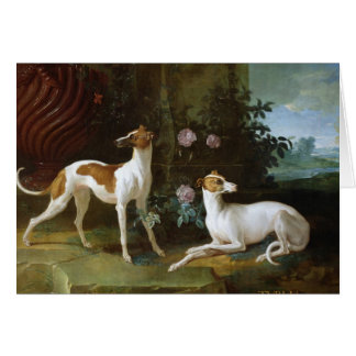Misse and Turlu, two greyhounds of Louis XV Card