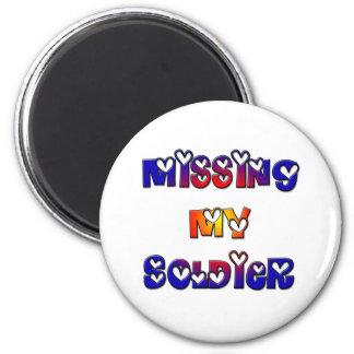 Missing my Soldier 6 Cm Round Magnet