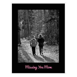 Missing You Mom Postcard