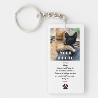 Missing You Pet Memorial Keychain