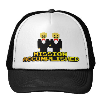 """""""Mission Accomplished"""" Marriage (Gay, 8-bit) Hat"""
