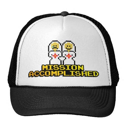 """Mission Accomplished"" Marriage (Lesbian, 8-bit) Hat"