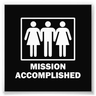 Mission Acomplished Threesome Photo