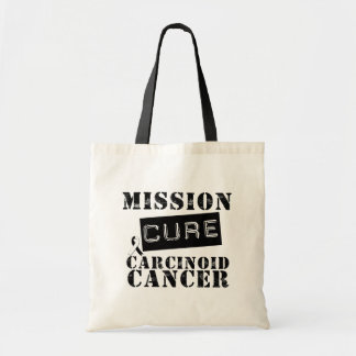 MISSION CURE Carcinoid Cancer Budget Tote Bag