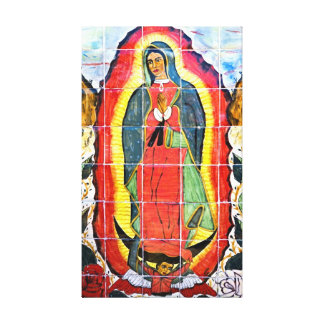 Mission San Miguel Arcangel Mural 1797 Canvas Print