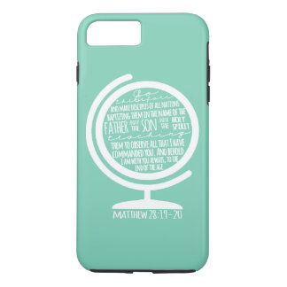 Missions Cover: Great Commission on Globe iPhone 7 Plus Case