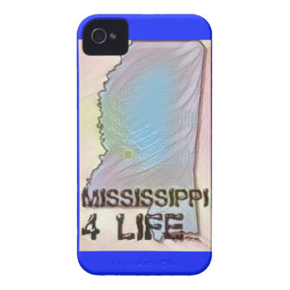"""""""Mississippi 4 Life"""" State Map Pride Design Case-Mate iPhone 4 Cases"""