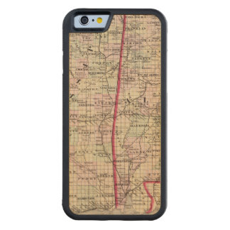 Mississippi and Alabama Carved Maple iPhone 6 Bumper Case