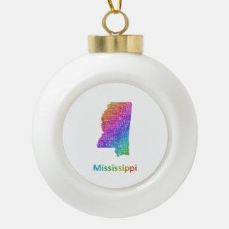 Mississippi Ceramic Ball Christmas Ornament