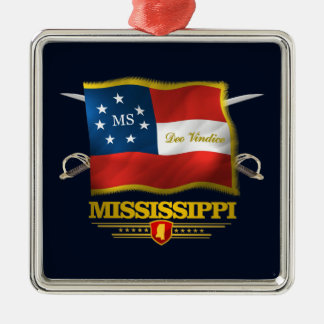 Mississippi Deo Vindice Christmas Ornament