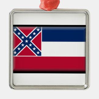 Mississippi Flag Christmas Ornament