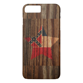 Mississippi Flag Star on Wood theme iPhone 7 Plus Case