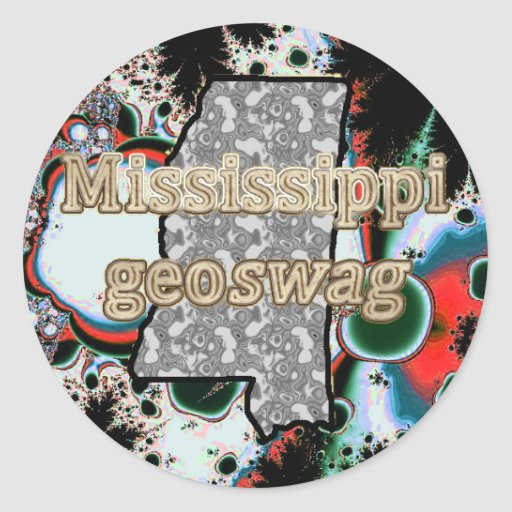 Mississippi Geocaching Supplies Stickers Geoswag
