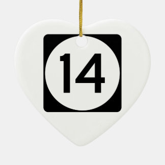 Mississippi Highway 14 Christmas Ornament