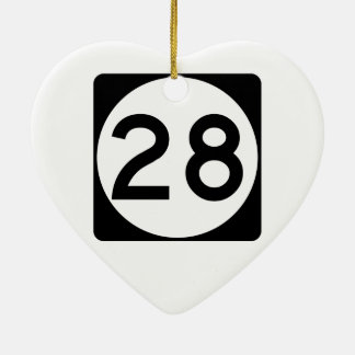 Mississippi Highway 28 Christmas Ornament