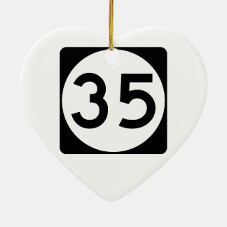 Mississippi Highway 35 Christmas Ornament