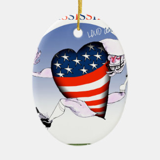 mississippi loud and proud, tony fernandes christmas ornament