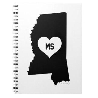 Mississippi Love Spiral Notebook
