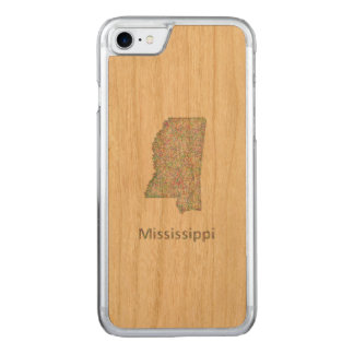 Mississippi map carved iPhone 8/7 case