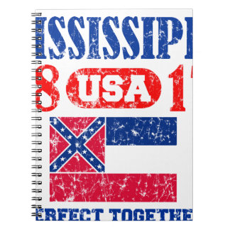 MISSISSIPPI PERFECT TOGETHER DISTRESSED PRODUCTS NOTEBOOKS