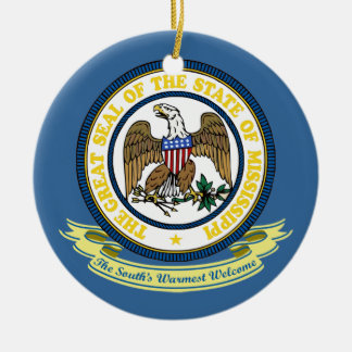 Mississippi Seal Christmas Ornament