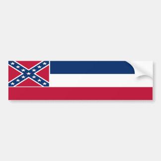 Mississippi State Flag Bumper Sticker