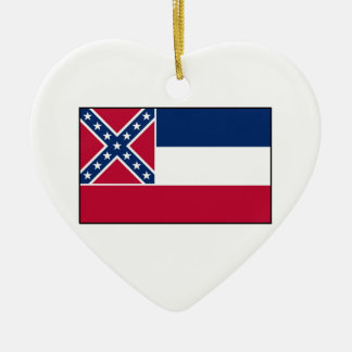 Mississippi State Flag Christmas Ornament