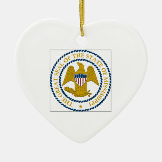 Mississippi State Seal Christmas Ornament