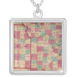 Missouri and Kansas Silver Plated Necklace