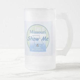 MISSOURI FROSTED GLASS BEER MUG