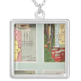 Missouri, Oregon, Iowa, North Dakota Silver Plated Necklace