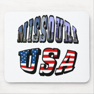 Missouri Picture and USA Text Mouse Pad