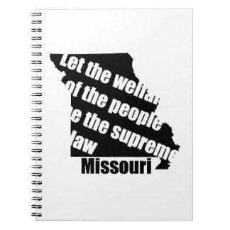 Missouri State Motto Notebook