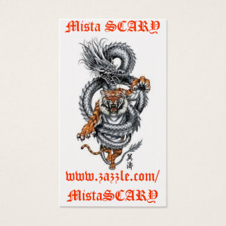 MistaSCARY Dragon Tiger Breathing Fire Card Custom