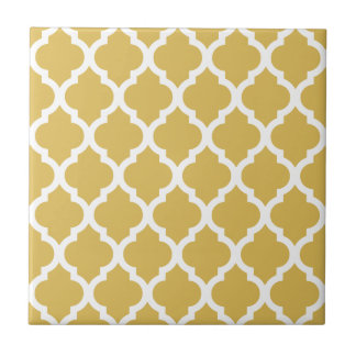 Misted Yellow Moroccan Tile Trellis