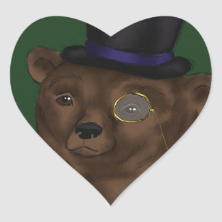 Mister Bear Heart Sticker
