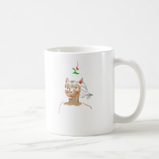 Mistletoe Cat Mug