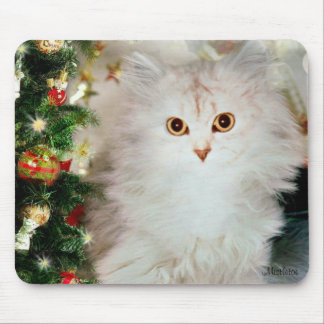 Mistletoe the Silver Persian Cat Mouse Pad