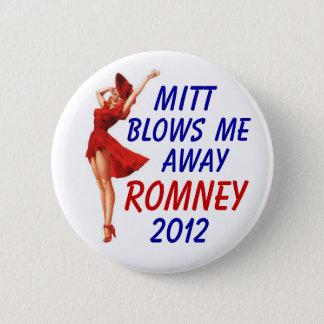 Mitt blows me away 2012 6 cm round badge