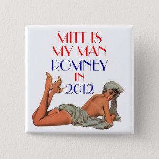 mitt is my man romney 15 cm square badge