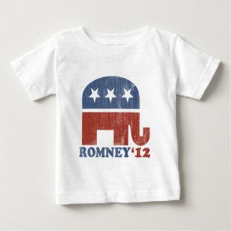 Mitt Romney 2012 Republican Elephant (Vintage) Baby T-Shirt
