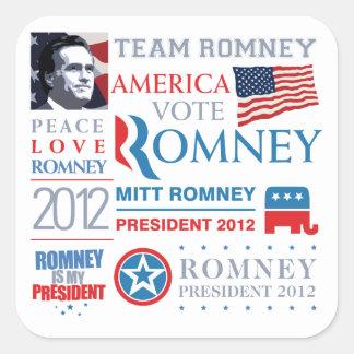 Mitt Romney president 2012 Square Sticker