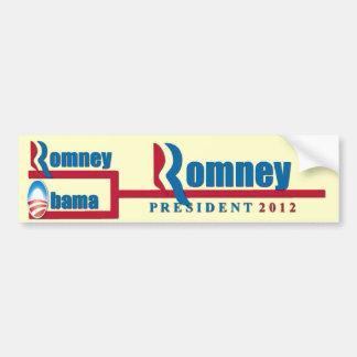Mitt Romney vs Barack Obama Bracket 2012 Bumper Sticker